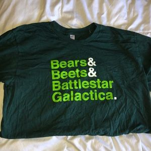 """Green unisex the tv show """"The Office"""" quote shirt"""
